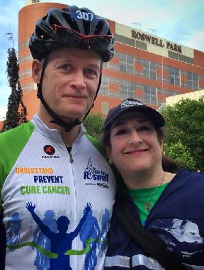 Mitch and Ellen at the Peloton in 2015.